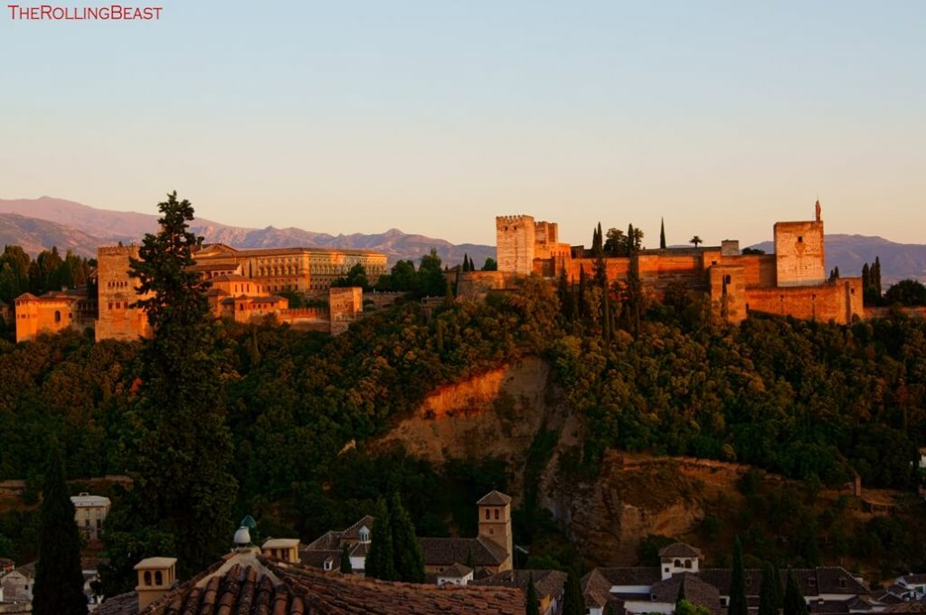 Alhambra Sunset from the Albaicin in Granada