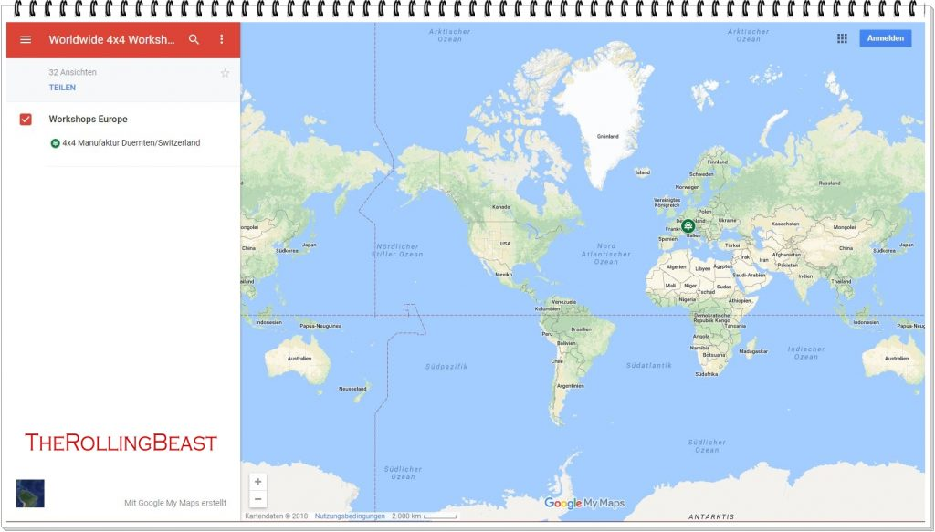 Worldwide 4x4 Workshop Map